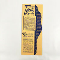 1950s Windsor Ontario Vintage Travel Brochure Canada Canadian Tours Vacation