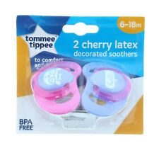 TOMMEE TIPPEE CHERRY LATEX SOOTHER 2 PK 6-18M CLIP STRIP (ASSORTED)