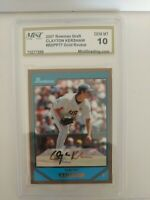 2007 Bowman Draft Gold #BDPP77 Clayton Kershaw Rookie GEM MINT 10 Dodgers HOF