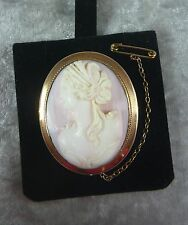 ESTATE/ANTIQUE CORAL CAMEO BROOCH PIN SET IN A 9CT/K ROSE GOLD SURROUND C 1910