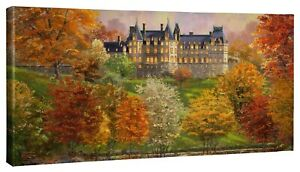 Thomas Kinkade Studios Biltmore in the Fall 16 x 31 Gallery Wrapped Canvas