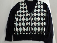 Brooks Brothers Mens XL ARGYLE Cardigan Button Front MULTI COLOR SWEATER