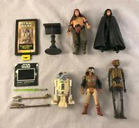 5 Star Wars Luke, R2-D2, Lando, Malakili, EV-9D9 Action Figures w/ Accessories
