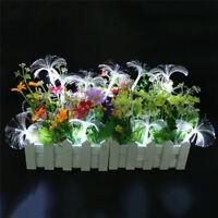 10 LED Fiber Optic Trumpet Flower LED String Light Xmas Wedding Party Decor