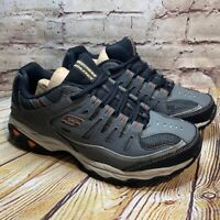 Skechers Mens Gray Athletic Trail Running Walking Shoes Size 8.5