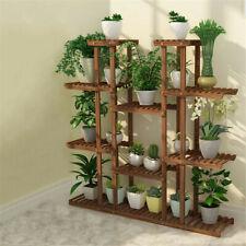 Multi Tier Wood Flower Rack Plant Stand Shelves Bonsai Display Book Ladder Shelf
