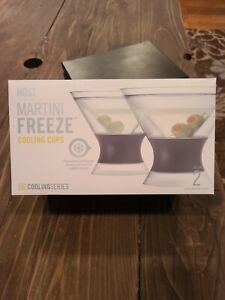 HOST Freeze Insulated Martini Cooling Cups Freezer Gel Chiller Double Wall 2 pcs