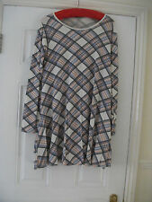 ladies pink/grey check   skater style dress    size 10/12