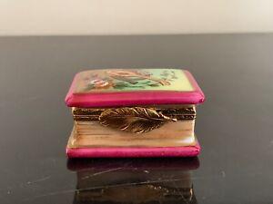 Limoges France Hand Painted Musical Instruments Book Porcelain Trinket Box