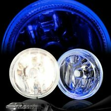 "4"" Blue Halo DRL Chrome Housing Bumper Fog Light Lamp Complete Kit Universal 6"