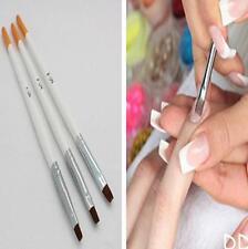 DI CA 3Pcs UV Gel Acrylic Design Drawing Painting Nail Art Tips Pen Brush