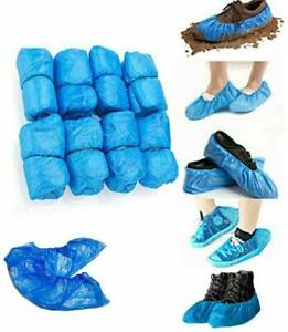 SHOE COVERS PLASTIC PROTECTORS ANTI SLIP CLEANING OVERSHOES WATER 30 Pcs UK