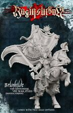 Raging Heroes Imperial Army 28mm Brunhilde With Great Banner On War Steed