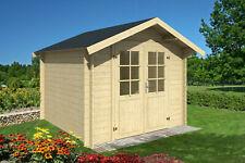 28 mm Gartenhaus ca. 300x300 cm Gerätehaus Blockhaus Holz Haus Holzhaus NEU