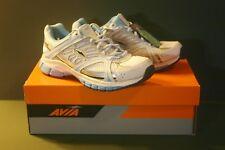 AVIA Hailey White Blue & Metallic Silver Athletic Running Shoes Size 8M NIB