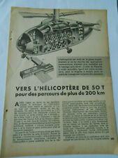 Vers l'Hélicoptère de 50 T 1952 clipping coupure presse