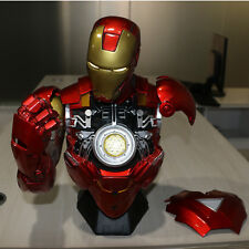 Iron Man Bust MK6 Mark6 Finish 1/2 Bust Custom Resin Statue Spot NEW LED