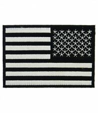 American Flag Black & White Reversed Patch, U.S. Flag Patches