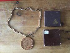 Alva Aztec Replica Pendant and Chain In Pewter