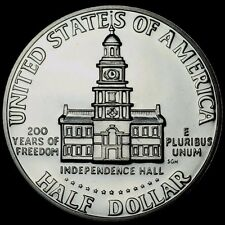 "1976 S Kennedy Half Dollar Deep Cameo ""PROOF"" 40% Silver Bicentennial US Coin"