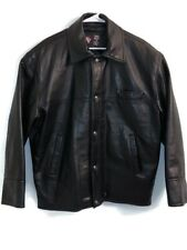 cd653a352a Gianni Versace GV Mens XL Snap Up Jacket Vinyl Black Hand Made In Italy EUC