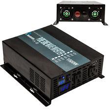 Pure Sine Wave Inverter 1500W 12V DC to 120V AC Powe Inverter Off Grid Solar