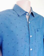 MENS PENGUIN BLUE SHIRT SZ S,EXCELLENT CONDITION! HERITAGE SLIM FIT