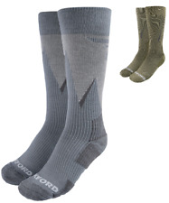 Oxford Merino Breathable Oxsocks Motorcycle Motorbike Socks Grey Khaki