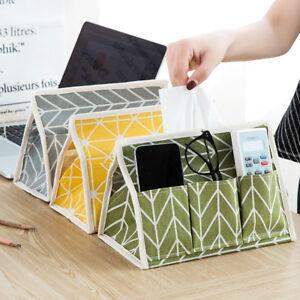 Cotton Linen Art Tissue Box Napkin Holder Cover Room Car Paper Container Cas^dm