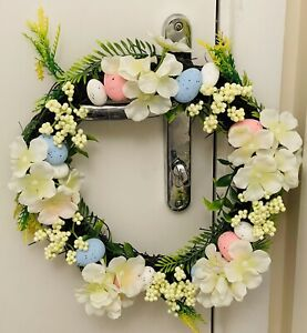 Wreath spring Garland Easter Egg Floral  Door Wall Decoration Artificial Garland