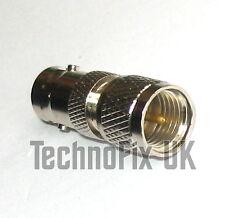 BNC female to mini UHF male adapter (BNC F to mini UHF M) fits Motorola MCS2000