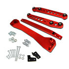 Rear Lower Control Arm+ Subframe Brace +Tie Bar For 96-00 Honda Civic EK Red