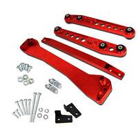 Rear Lower Control Arm+ Subframe Brace +Tie Bar For 96-00 Honda Civic EK Red