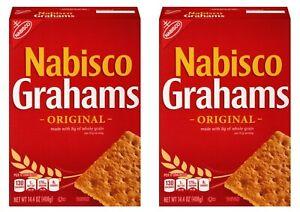 2 Nabisco Grahams Original Crackers 14.4 oz Each Box