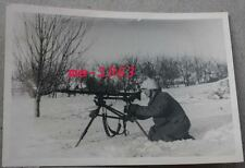Foto MG 34 SMG Lafette  Soldat wintertarn