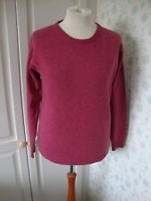 MENS JAMES PRINGLE LONG SLEEVED JUMPER SIZE SMALL PINK PURE NEW WOOL LAMBSWOOL