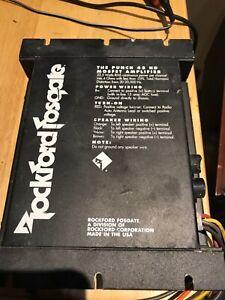 used Old School Rockford Fosgate Punch 45 HD 2 channel amplifier,rare,USA,