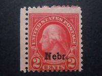 1929 #671 2c Nebraska Overprint Miss-Perforated EFO MNH OG F/VF