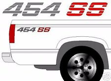 454 SS Chevy Truck 4x4 Off Road Silverado 1500 Sticker Vinyl Decal  2 set