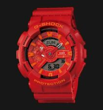 Casio G-Shock GA110 X-Large Special Color Lava Red x Orange Accents Watch