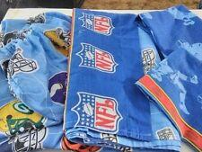 NFL 4 pc Twin Bed Sheet Set Blue Helmets Sports Dan River 2007