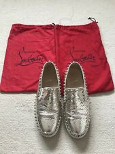 7a28aa5d3c1a Ladies Christian Louboutin Size 5 (38) Slip On Gold Leather Trainers pumps  Shoes
