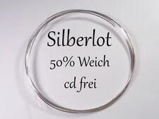 Silberlot 5 Gramm,für Schmuck {50%Ag, Weich} cd,frei als Draht,[Silver Solder]