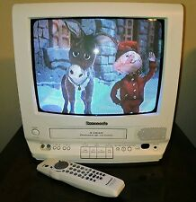 "Panasonic White 13"" Color TV VCR Combo w FM Radio PV-M1378W Omnivision w Remote"