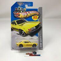 #5350  '70 Toyota Celica #1 * Yellow * 2013 Hot Wheels * WF10