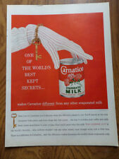 1959 Carnation Evaporated Milk Ad One of The World's Best Kept Secrets
