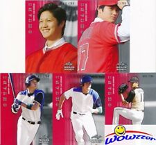 SHOHEI OHTANI 2018 Leaf Premier Rookie (5) Card RED PARALLEL RC Set all #1/200