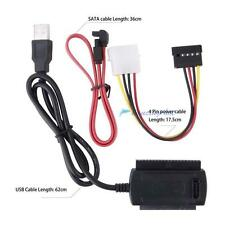 SATA/PATA/IDE to USB2.0 Converter Cable Adapter for 2.5/3.5'' Hard Drive Disk DH