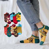 Striped Cotton Cartoon Fruit Cotton Socks Women Sock Short Socks Boat Sock