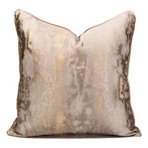 45 X 45 Luxury Gold Mottled Textured Cushion Cover Modern Home Throw Pillow Case